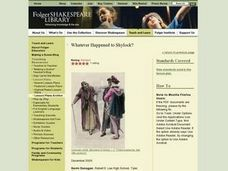 Whatever Happened to Shylock? Lesson Plan