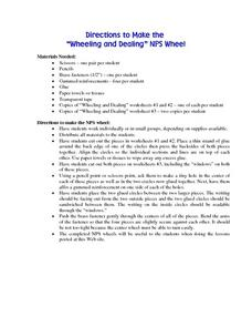 Wheeling and Dealing NPS Wheel Lesson Plan