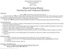 Wheels, Gears, and Compound Machines Lesson Plan