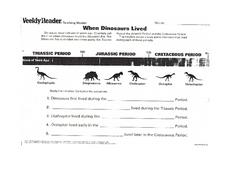 When Dinosaurs Lived Worksheet