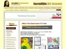 When the Giant Came to Town.... Lesson Plan