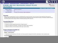 Where Are You Traveling Today? Plate Tectonics Lesson Plan