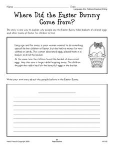 Where Did the Easter Bunny Come From? Worksheet