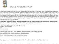 Where Do Plants Get Their Food? Lesson Plan