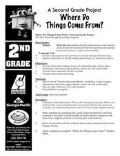 Where Do Things Come From? Lesson Plan