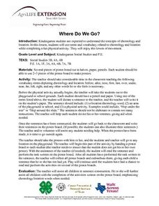 Where Do We Go? Lesson Plan