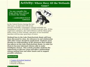 Where Have All the Wetlands Gone? Lesson Plan