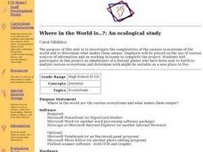 Where in the World is..?: An ecological study Lesson Plan