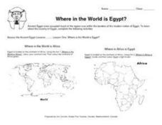Where in the World is Egypt? Lesson Plan