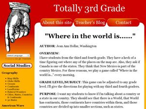 Where in the World is...? Lesson Plan