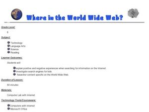 Where in the World is the Wide Web? Lesson Plan