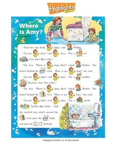 Where Is Amy? Worksheet