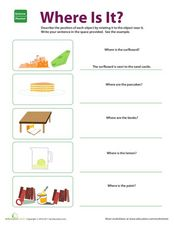Where is it? Worksheet