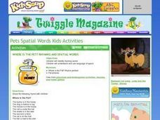 Where Is The Pet? Rhyming and Spatial Words Lesson Plan
