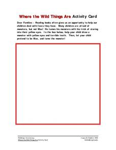 Where the Wild Things Are Activity Card Worksheet