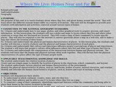 Where We Live: Homes Near and Far Lesson Plan
