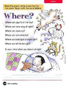 Where? Worksheet