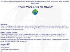 Where Would I Find the Mayans? Lesson Plan