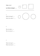 Which is the Biggest? Worksheet
