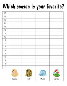 Which is Your Favorite Season?: Graph Worksheet