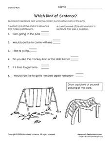 Which Kind of Sentence? Using Periods and Question Marks Worksheet