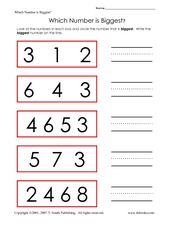 Which Number is Bigger? Finding the Largest Number Worksheet