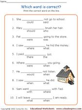 Which Word is Correct? Worksheet