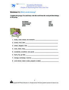 Which Words Belong? Worksheet
