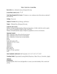 White-Tailed Deer Lesson Plan