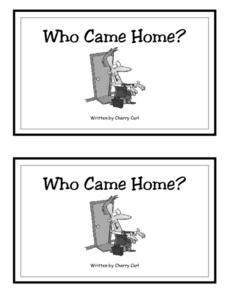 Who Came Home? Black and White Worksheet