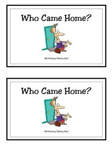 Who Came Home? Worksheet