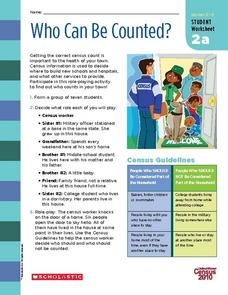 Who Can Be Counted? Worksheet