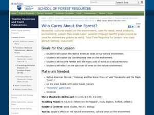 Who Cares About the Forest? Lesson Plan