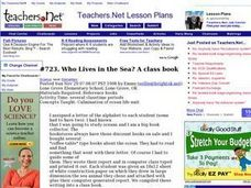 Who Lives in the Sea? A class book (Elementary, Science) Lesson Plan