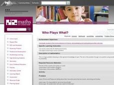 Who Plays What? Lesson Plan