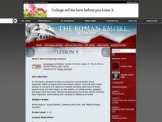 Who's Who in Roman History Lesson Plan