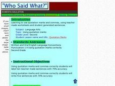 Who Said What? Lesson Plan