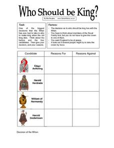 Who Should be King? Worksheet