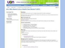 Who Wants to be a Health Care Worker? Lesson Plan