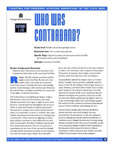 Who Was Contraband? Lesson Plan