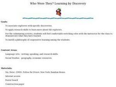 Who Where They? Lesson Plan