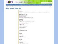 Whole Number Game Time Lesson Plan