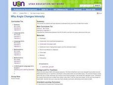 Why Angle Changes Intensity Lesson Plan
