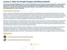 Why are People Hungry and Malnourished?: Ethics, Food, Global Cultures, Malnutrition Lesson Plan