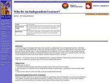 Why Be An Independent Learner? Lesson Plan