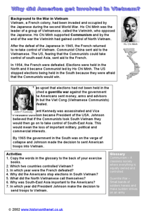 Why Did America Get Involved in Vietnam? Worksheet