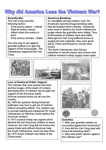 korean war summary, korean war facts, worksheet works | GREAT ...