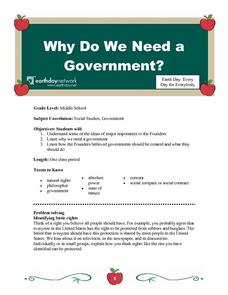 Why Do We Need a Government? Lesson Plan