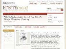 Why Do We Remember Revere? Paul Revere's Ride in History and Literature Lesson Plan