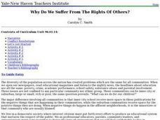 Why Do We Suffer From The Rights Of Others? Lesson Plan